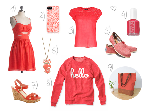 Colors of summer: coral