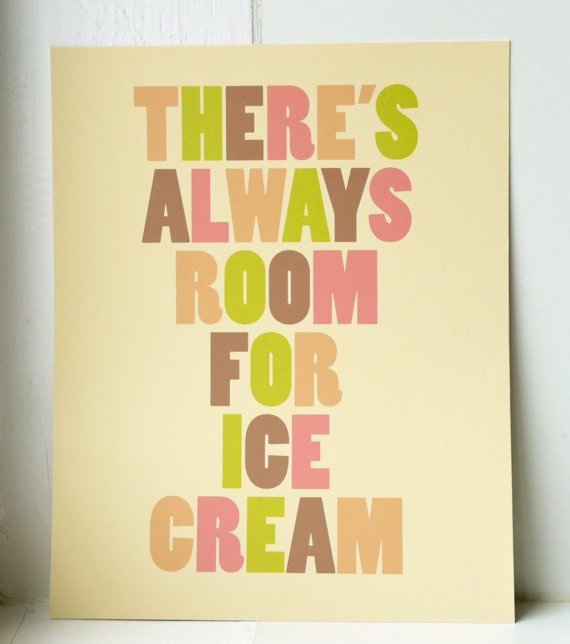 Ice Cream Print by twoforjoypaper