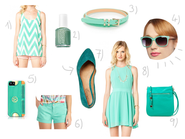 Colors of summer: teal