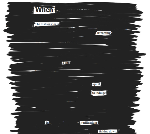 Newspaper Blackout Poem by Eva